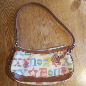 Dooney and Bourke, colorful scribble purse